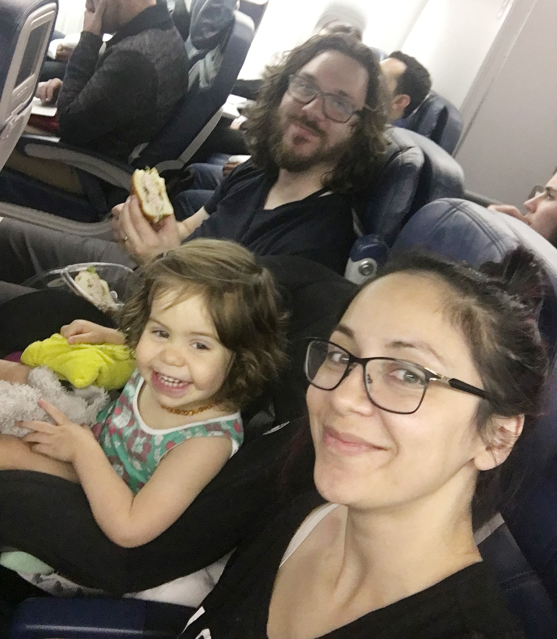 traveling with kids on an airplane